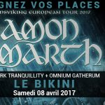 <b>AMON AMARTH + DARK TRANQUILLITY  + OMNIUM GATHERUM au Le Bikini  Samedi 08 Avril 2017  Gagnez vos pl...</b>