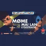 <b>MØME, Mai Lan et Lysistrata en concert à Toulouse le 11 mai 2017</b>