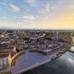 <b>Magnifique vue à 360° de #Toulouse et des Berges de la Garonne, réalisée en Drone by  http://360degr...</b>