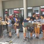 <b>Les élèves de la classe orchestre collège des ponts jumeaux #Toulouse fêtent la musique au rectorat ...</b>