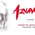 <b>Charles Aznavour le 30 janvier 2018 en concert à Toulouse</b>