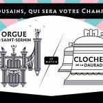 <b>Cloches de la #Daurade ou l&#039;#orgue de St-Sernin. C&#039;est vous qui décidez ! Faites un don su...</b>