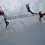 <b>Ouverture de la saison culturelle de @Colomiers31 avec grand spectacle de danse escalade sur le parv...</b>