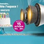 <b>20 ans de la Cité de l'Espace :Journée anniversaire le 15 octobre !</b>