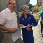 <b>Claudie Haigneré notre marraine entre en scène ! #20ansCiteEspace @ESA_fr #astronautespic.twitter.co...</b>