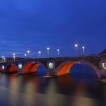 <b>Le Pont-Neuf illuminé en orange, samedi 25 novembre, dans le cadre de la Journée de internationale p...</b>
