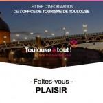 <b>1ère newsletter de 2018 : #Toulouse, faites vous plaisir ! #visiteztoulouse  (Abonnez-vous à la news...</b>