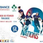 <b>VI Nations Féminin : France – Irlande en février à Toulouse</b>