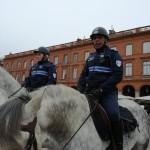 <b>La brigade équestre de la police municipale de #Toulouse en démonstration aujourd&#039;hui sur la pl...</b>
