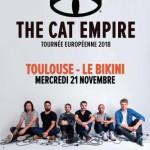 <b>The Cat Empire en concert en novembre 2018 à Toulouse</b>