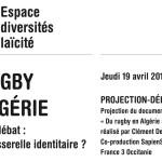 <b>L&#039;Espace #Diversités #Laïcité propose une soirée débat autour du documentaire « Du #rugby en Al...</b>