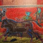 <b>Le taureau aux sabots de papier de Serge Pey</b>