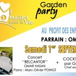 <b>Garden Party + Concert d&#039;Omar Hasan (piano Marc-Olivier Poingt)</b>