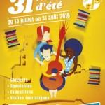 <b>21e édition du Festival «31 Notes d'été» du 13 juillet au 31 août !</b>