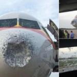 <b>Un Airbus A320 atterrit en urgence en Chine pour cause de grêle</b>