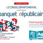 <b>Un banquet républicain pour le 14 juillet au Conseil Départemental</b>