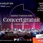 <b>Lundi, concert gratuit de l'Orchestre du Capitole de Toulouse à la Prairie des Filtres</b>