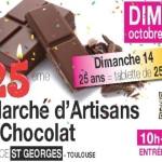 <b>25e Marché d'artisans du Chocolat à Toulouse ce weekend !</b>