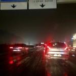 <b>Val-d'Oise. Circulation difficile sur l'A15 à cause de quelques flocons de neige</b>