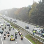 <b>Opération escargot des routiers en soutien aux gilets jaunes</b>