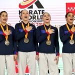 <b>La Doloise Laura Sivert, championne du monde de karaté par équipe</b>