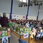 <b>678kg de denrées collectées par des élèves d&#039;Argentan et Sarceaux pour les Restos du Cœur</b>