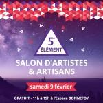 <b>Le salon d'Artistes et d'artisans 5e Elément ce samedi à Toulouse !</b>