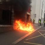 <b>Incendie d&#039;un distributeur de billets à Rouen: sept Gilets jaunes interpellés</b>