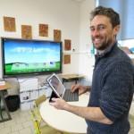 <b>L&#039;école des Trois Cornets à Saint-Ouen-des-Champs est à la pointe des nouvelles technologies</b>