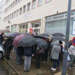 <b>Une soixantaine d'agents des finances publiques manifestent à Lons-le-Saunier</b>