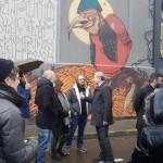 <b>Inauguration de la fresque de @100taur par Monsieur le maire @jlmoudenc rue des Anges #Toulouse #vis...</b>