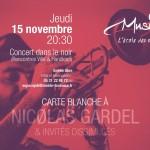 <b>Concert dans le noir : carte blanche à Nicolas Gardel</b>
