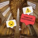 <b>Demain vendredi 30.11.18, le couvent des Jacobins ne sera pas en mesure d'ouvrir ses portes aux...</b>