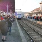 <b>A Lons-le-Saunier, ils manifestent pour garder le TGV Strasbourg-Marseille</b>
