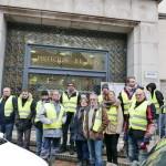 <b>Les entreprises de Travaux publics rejoignent les Gilets jaunes à Lons-le-Saunier</b>