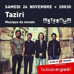 <b>Le projet Taziri ce samedi soir en concert au Metronum</b>