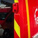 <b>La Roche-sur-Yon: départ d'incendie dans une cage d'escalier d'un immeuble, place Na...</b>