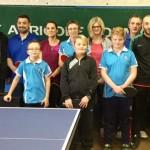 <b>Le stage du club de tennis de table de Sainte-Gauburge a rassemblé une dizaine de pongistes</b>