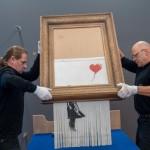 <b>Allemagne : pour la première fois, la toile lacérée de Banksy est exposée dans un musée</b>