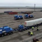 <b>Nouveau rotor pour Flamanville : le convoi est bloqué sur le port de Cherbourg</b>