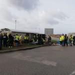 <b>Cherbourg : les Gilets jaunes reprennent la Gare maritime</b>