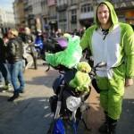 <b>Motards en colère à Lille. La moto, une solution contre la pollution</b>