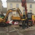 <b>Place R. Elizé. La statue de Louis Derbré a été retirée ce jeudi 21 février</b>