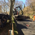 <b>Un camion perd son chargement de véhicules épaves entre Saint-Félix-Lauragais et Le Vaux</b>