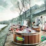 <b>Paris. Ikea installe des bains bouillonnants en bord de Seine</b>