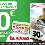 <b>30 euros de carte cadeau carburant pour tout nouvel abonnement à La Presse d'Armor</b>