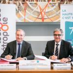 <b>Coopération Métropole/Département : Emmanuel Macron salue l'accord trouvé entre les deux collectivit...</b>