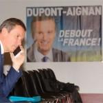 <b>Essonne. La blague de Nicolas Dupont-Aignan passe mal</b>