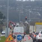 <b>Cherbourg-en-Cotentin : la circulation réduite à une voie à cause du chantier de remplacement de lam...</b>