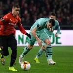 <b>VIDEOS. Ligue Europa : Rennes terrasse Arsenal et s&#039;offre une grande chance de quarts</b>